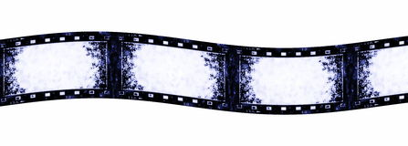 Old grunge film strip. Background, texture Stock Images