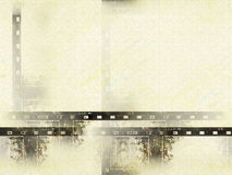 Old grunge film strip background Royalty Free Stock Images