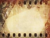 Old grunge film strip background Stock Photography