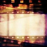 Old grunge film strip background Stock Photo