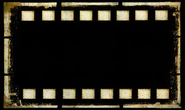 Old grunge film strip frame. Old grunge film strip frame background Stock Photography