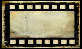 Old grunge film strip frame background. Bank old grunge film strip frame background Royalty Free Stock Photos
