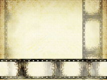 Old grunge film strip frame. Blank old grunge film strip frame background Stock Images
