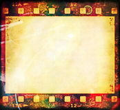 Old grunge film strip frame. Blank old grunge film strip frame background Royalty Free Stock Images
