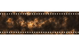 Old grunge film strip frame isolated on white Royalty Free Stock Photos