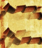 Old grunge film strip roll Stock Photography