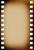 Old grunge film strip. On white Royalty Free Stock Photography