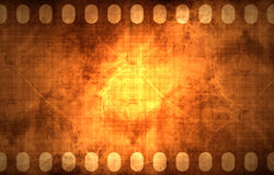 Old grunge filmstrip. Old grunge negative filmstrip with some stains on it Stock Images