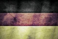 Old grunge flag of Germany Stock Photography