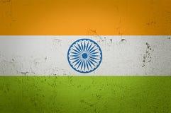Old grunge flag of India. Background royalty free illustration