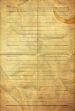 Old grunge folding note paper Stock Photos