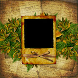 Old grunge frame on the abstract background Stock Photo