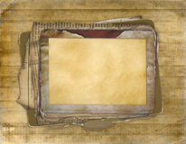 Old grunge frame on the antiquarian background Stock Photo