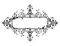 Old grunge frame with floral decoration, vector illustration vector illustration