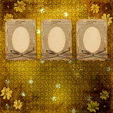 Old grunge frame  with manuscript. On the abstract background Stock Images