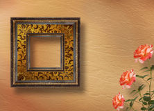Old grunge frames on the abstract background Royalty Free Stock Photo
