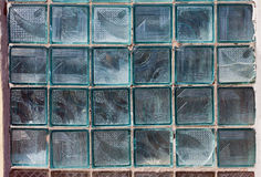 Old grunge glass block wall Stock Photo