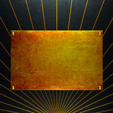 Old grunge gold metal plate Royalty Free Stock Photos