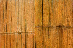 Old grunge grain bamboo wall with stain Stock Photos