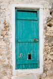 Old grunge green door Royalty Free Stock Photography