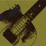 Old grunge guitar. Background for your text Royalty Free Stock Photography