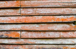 Old grunge hardwood wall closeup for background user Royalty Free Stock Images