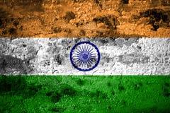 Old grunge India background flag.  royalty free illustration