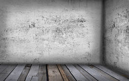 Old grunge interior. Corner of old grunge interior Stock Photography