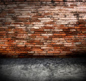 Old grunge interior with brick wall Stock Photography