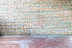 Old grunge interior with brick wall Royalty Free Stock Image