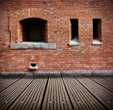 Old grunge interior with brick wall Royalty Free Stock Photography