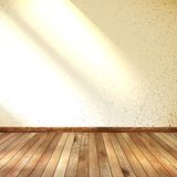 Old grunge interior, wooden floor. EPS 10 Stock Photo