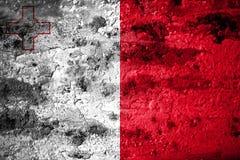 Old grunge Malta background flag.  Royalty Free Stock Photo