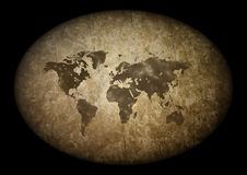Old grunge map Stock Photography