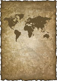 Old grunge map world Stock Image