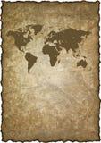 Old grunge map world Stock Image