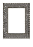 Old grunge metallic photo frame Royalty Free Stock Images