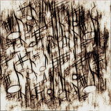 Old grunge musical notes background Royalty Free Stock Photos