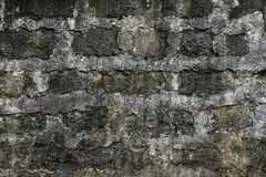 Old grunge natural bricks blocks textured stone background Royalty Free Stock Images