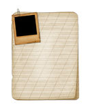 Old grunge notebook with slide Stock Images