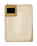 Old grunge notebook with slide Stock Image