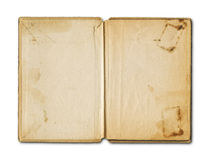 Old grunge open notebook Royalty Free Stock Images