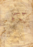 Old grunge papae a la da Vinci Royalty Free Stock Image