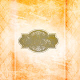 Old grunge paper background with vintage patterns and frame. Stock Photography