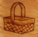 Old grunge paper basket illustration. Grunge illustration of a basket Stock Photography