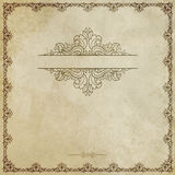 Old grunge paper with decorative border. Stock Image