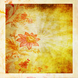 Old grunge paper ,flower pattern Royalty Free Stock Image