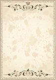 Old grunge paper with frame Royalty Free Stock Image