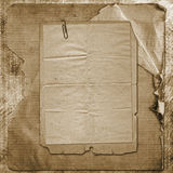Old grunge paper frames on ancient background royalty free stock photo