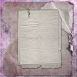 Old grunge paper frames on ancient background Royalty Free Stock Image